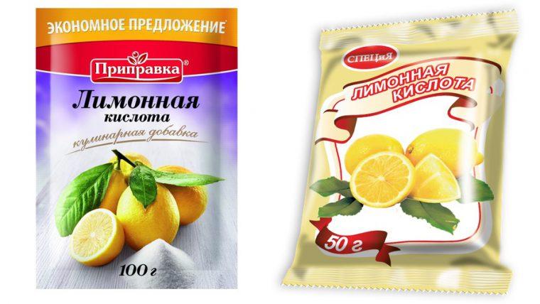 порошок из лимонной кислоты